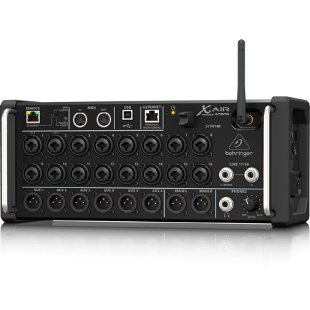 Behringer XR18 18 Channel, 12 Bus Digital Mixer w/ Preamps, Wi-Fi, USB Audio Interface for iPad/Android Tablets