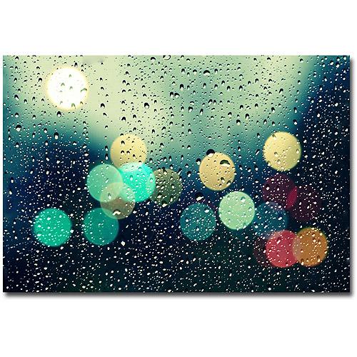 """Trademark Fine Art """"Rainy City"""" Canvas Art by Beata Czyzowska Young"""