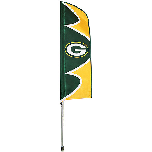 "NFL Green Bay Packers 42"" x 13"" Swooper Flag and 6' Pole"
