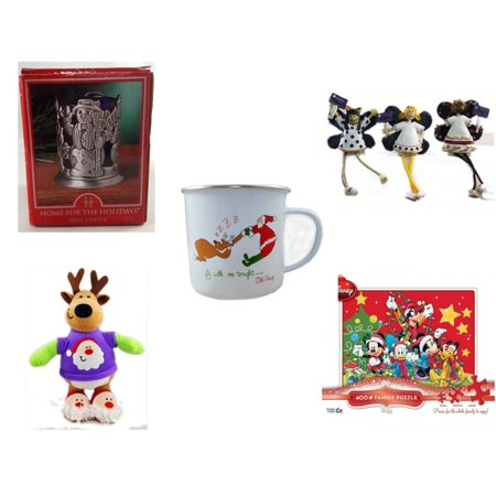 Christmas Fun Gift Bundle [5 Piece] - Home For The s Snowman Votive Holder - Angel Princess