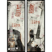 Music Scene: Guitar Panel, Set of 2