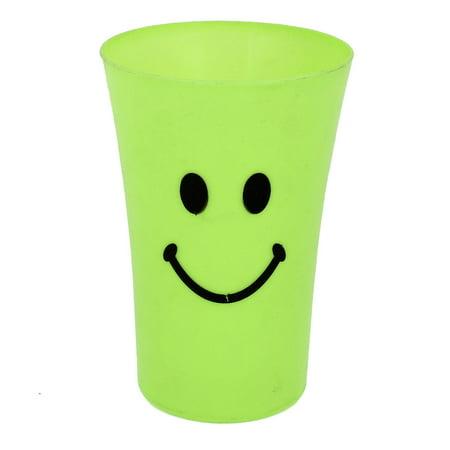 Bathroom Green Plastic Smile Pattern Gargle Toothbrush Toothpaste Cup Mug ()