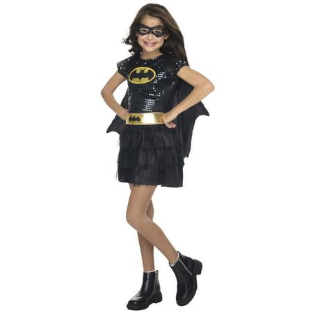 Sequin Batgirl Child Halloween Costume, 3T-4T](Toddler Batgirl)