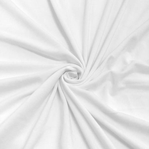 """DTY Double-Sided Brushed Fabric 4 Way Stretch Jersey Knit Apparel 58/60"""" Wide Sold BTY Many Color (White)"""