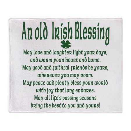 CafePress - Old Irish Blessing - Soft Fleece Throw Blanket, 50