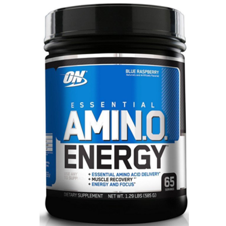 Optimum Nutrition Amino Energy Pre Workout + Essential Amino Acids Powder, Blue Raspberry, 65 (Take Amino Acids Before Or After Workout)