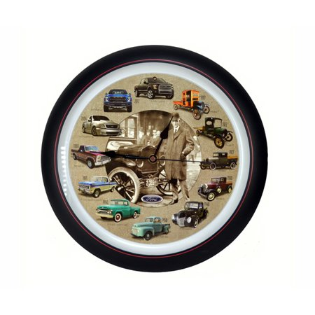 Mark Feldstein MFFTH13 Ford Truck 100th Anniversary 13 inch Sound Clock Grill Center