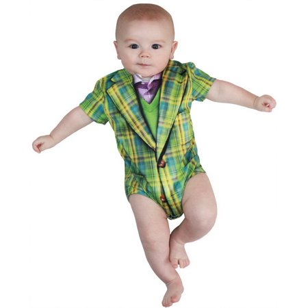 Faux Real F118219 Infant Plaid Suit Romper Costume-12M