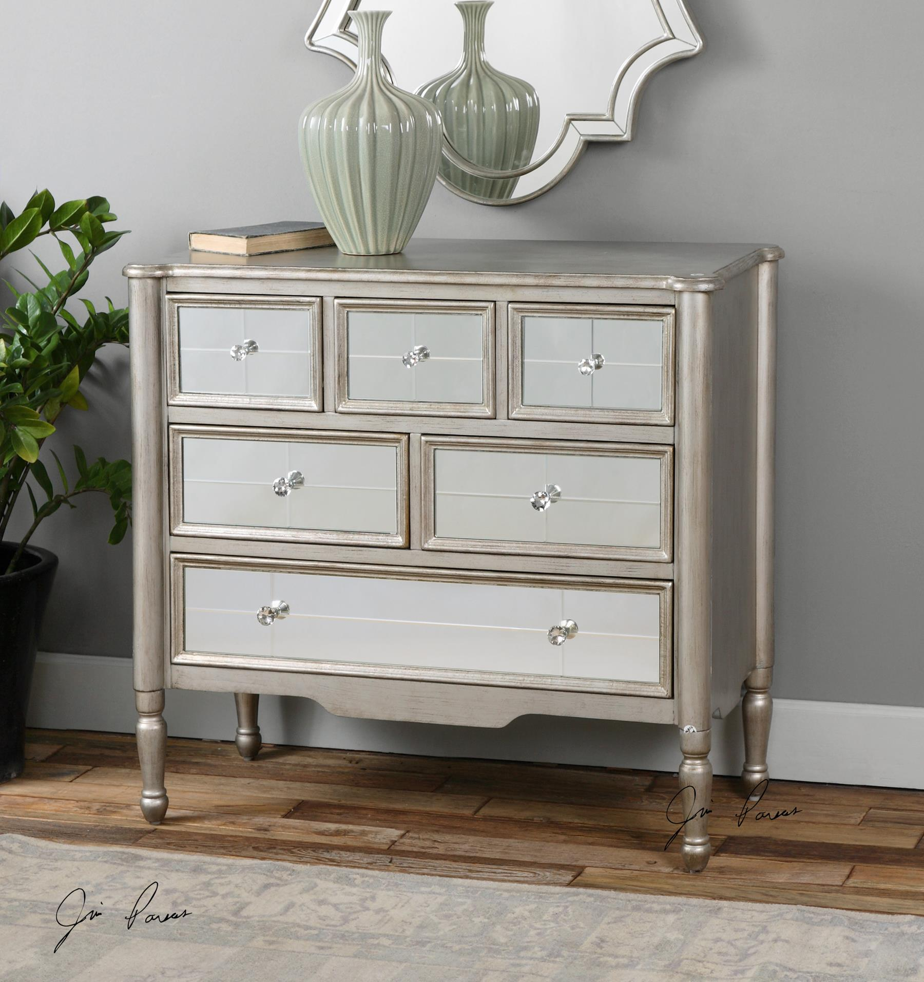 Uttermost Rayvon Mirrored Accent Chest