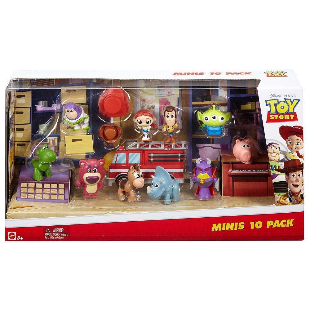 Disney Pixar Toy Story Deluxe Mini Figure Set 10 Pack..., By Mattel Ship from US by