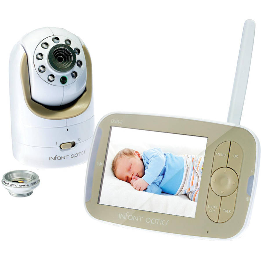 Infant Optics DXR-8, Video Baby Monitor, Interchangeable Optical Lens