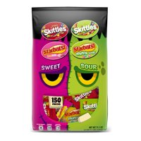 SKITTLES, STARBURST Sweet Sour Variety Candy Bag | Contains 150 Pieces, 71.1 Oz.