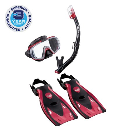 TUSA Sport Adult Visio Tri-Ex Mask Series Travel Swimming Set