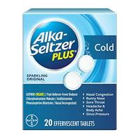 Alka Seltzer Plus Cold Formula For Nasal Congestion, Sparkling Orignal, 20 Tablets, 2 Pack