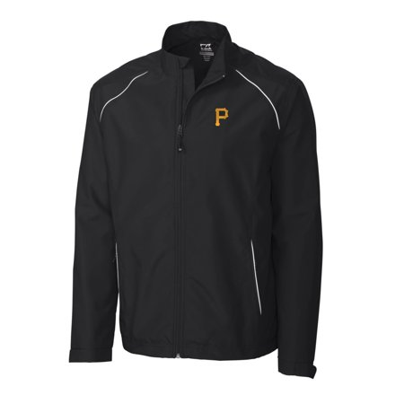 Weathertec Jacket (Pittsburgh Pirates Cutter & Buck Big & Tall WeatherTec Beacon Full Zip Jacket - Black )