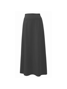 95482c9eefa1 Product Image Baby'O Women's Stretch Cotton Knit Panel Maxi A-Line Skirt
