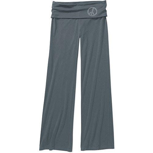 No Boundaries - Juniors' Foldover Yoga Pants - Walmart.com