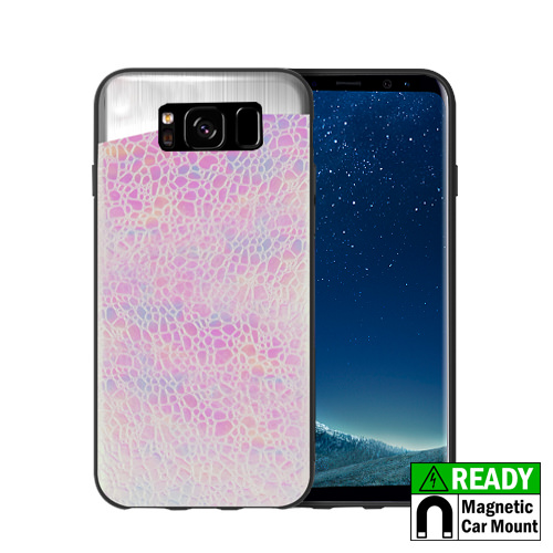 MUNDAZE Pink Pearl Holographic Magnetic Ready Case For Samsung Galaxy S8 Phone