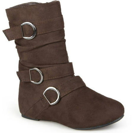 Girl's Buckle Accent Suede Boots