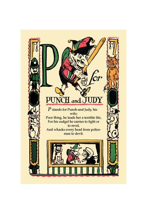 P For Punch And Judy Print (Unframed Paper Print 20x30)