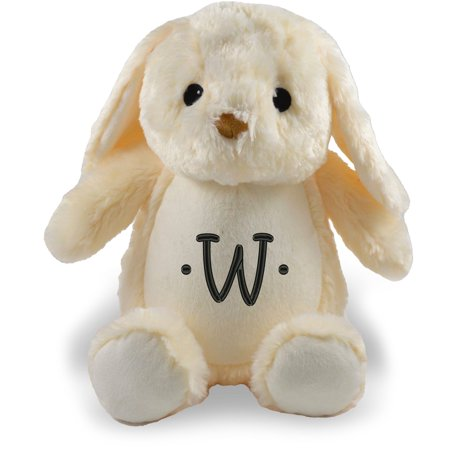 Personalized Stuffed Ivory Bunny with Embroidered (Animals That Begin With The Letter G)