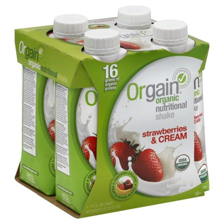 Orgain Organic Ready To Drink Meal Replacement Strawberries and Cream
