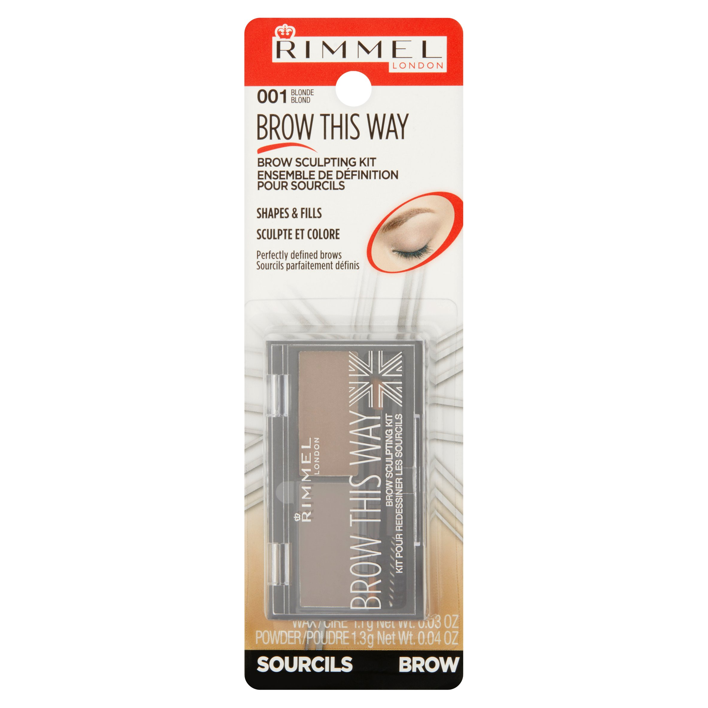 Rimmel London Brow This Way Brow Sculpting Kit, Blonde
