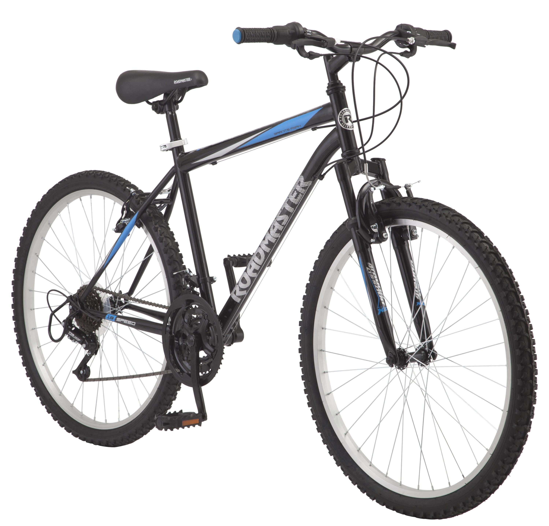 "Roadmaster Granite Peak Men's Mountain Bike, 26"" wheels, Black/Blue"