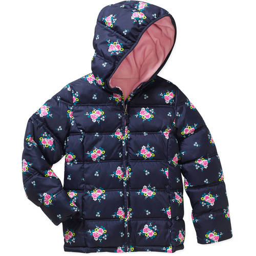 Faded Glory Girls' Puffer Bubble Jacket - Walmart.com