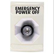 SAFETY TECHNOLOGY INTERNATIONAL SS-2303PO Emergency Power Off Button,Key