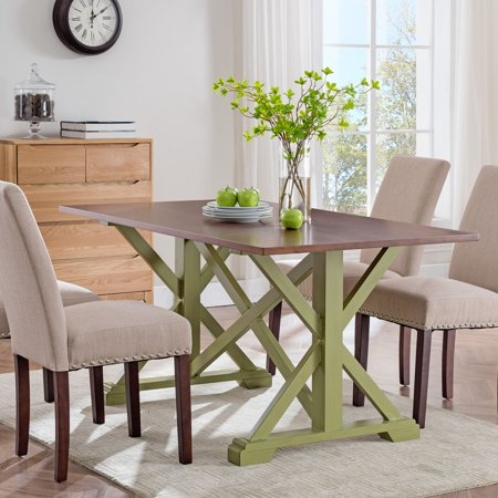 Clampo Farmhouse Dining Table, Whiskey -