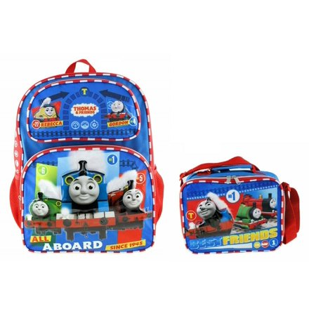 "Thomas the Train Boys' No. 1 Thomas 16"" Large Backpack With Lunch Bag Set"