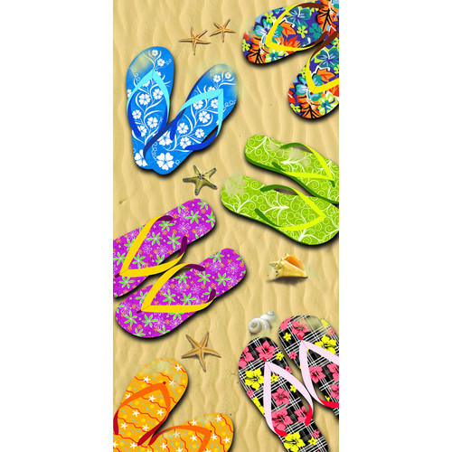 Kaufman Sales Sandals 100pct Cotton Beach Towel