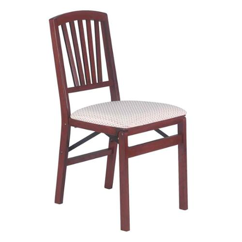 34 in. Slat Back Folding Chair - Set of 2