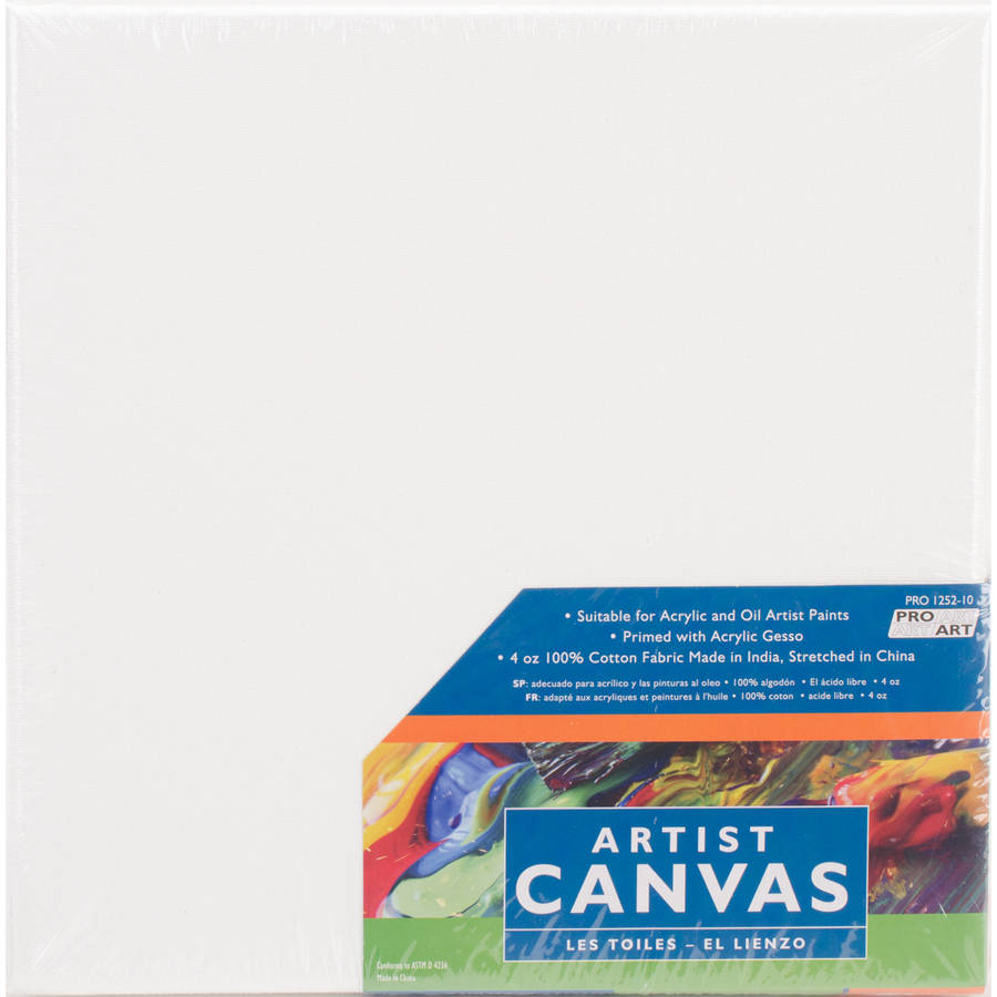 "Pro Art Stretched Canvas 2pk, 10"" x 10"""