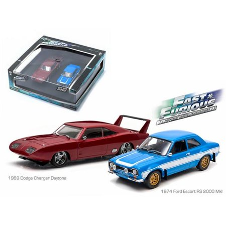 Greenlight 86251 1969 Dodge Charger Daytona & 1974 Ford Escort RS 2000 Mkl The Fast & The Furious Movie Diorama Set 1-43 Diecast Model Cars - image 3 of 3