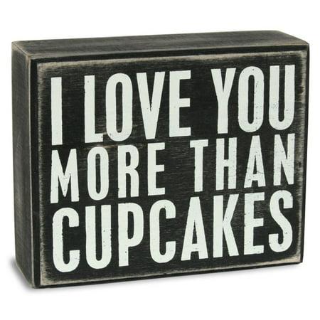 Cupcakes Box Sign Wood Sign - 5x4