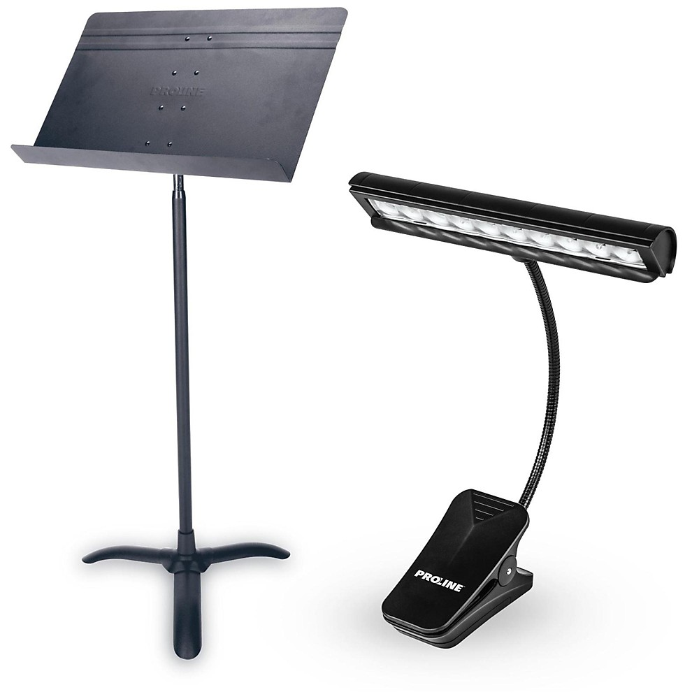 Proline Orchestra Music Stand & LED Light Combo by Proline