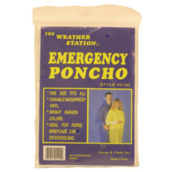 Poncho Emergency, Weather Station - 1 Ea