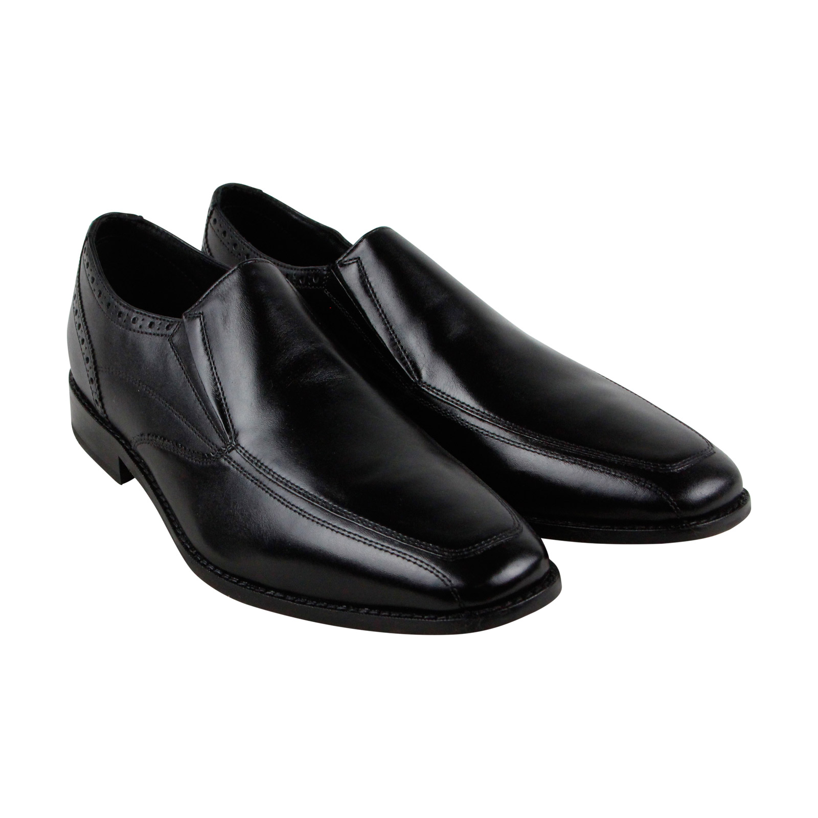 Florsheim Castellano Mcsl Mens Black Leather Casual Dress Slip On Loafers Shoes by Florsheim