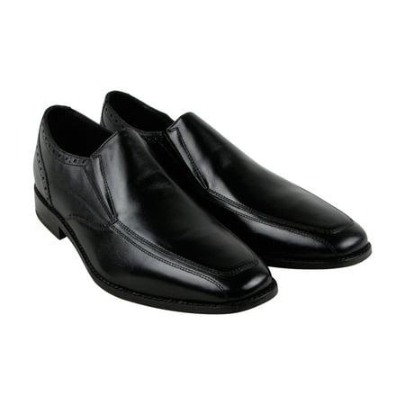 Florsheim Castellano Mcsl Mens Black Leather Casual Dress Slip On Loafers