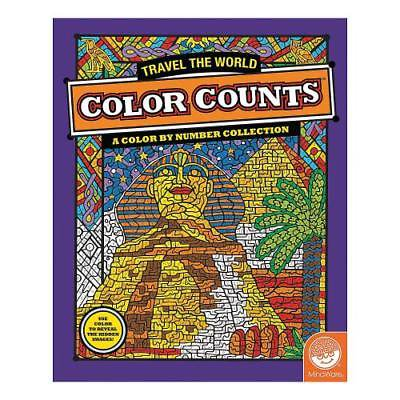 IN-13726834 Mindware? Color Counts - Travel The World Coloring Book