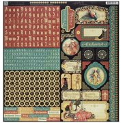 Graphic 45 Enchanted Forest 12 x 12 Sticker Sheet