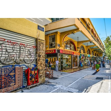 LAMINATED POSTER Market Store Shop Athens Greek Greece Poster Print 24 x (Athens Department Store)