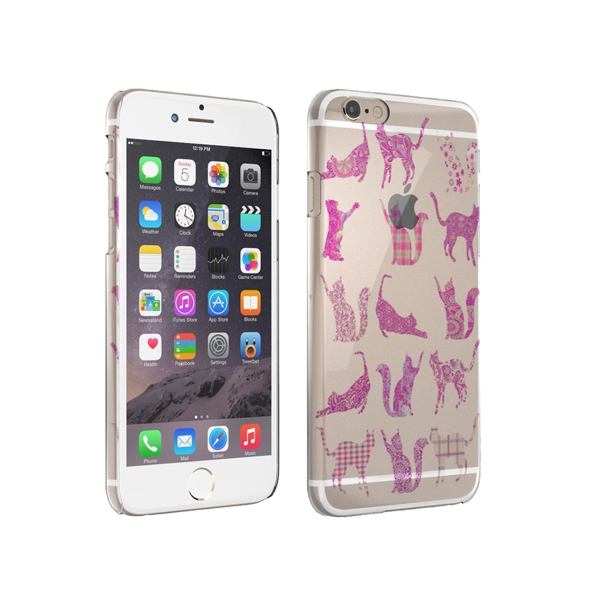 KuzmarK iPhone 6 Plus Clear Cover Case - Kitty Cat Pink
