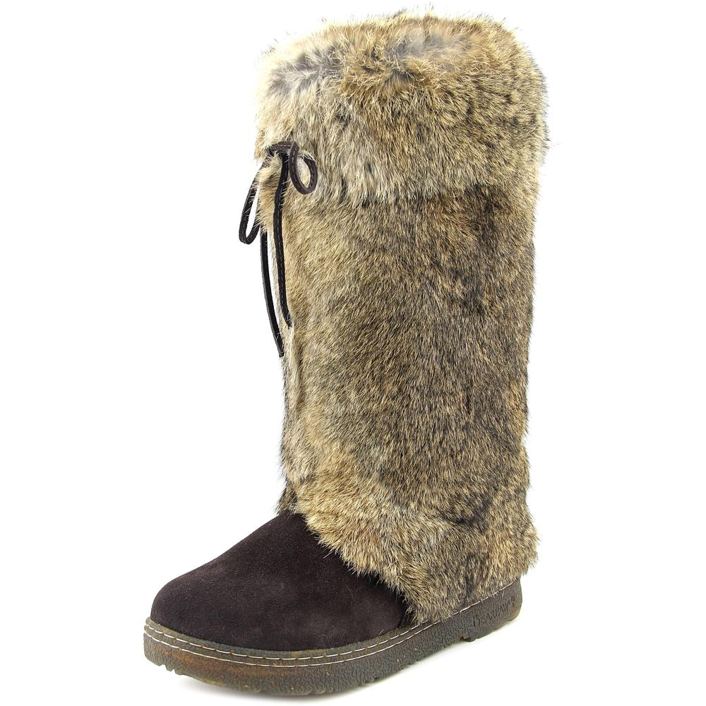 Bearpaw Boots Womens Elsa Rabbit Fur Cow Hair Comfortable 1856W