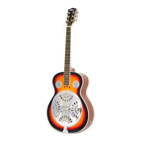 - Pyle PGA48BR - 6-String Acoustic Resonator Guitar, Full Scale Resophonic, Accessory Kit Included
