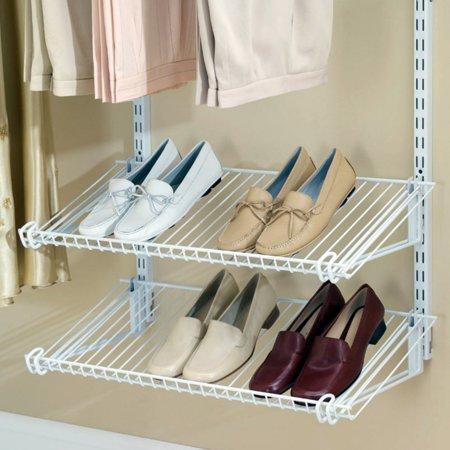 Newell Rubbermaid Shelf (Rubbermaid Home Prod Dorfile FG3H9403WHT Configurations Closet Shoe Shelves, Titanium )