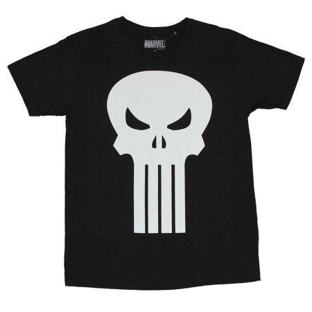 Mens Classic Single - The Punisher (Marvel Comics)  Mens T-Shirt  - Classic Single Color Punisher Logo
