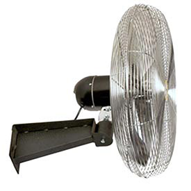 "Airmaster Fan 20903 18"" Wall Mount Oscillating Fan 1/5HP 2600CFM, Lot of 1"